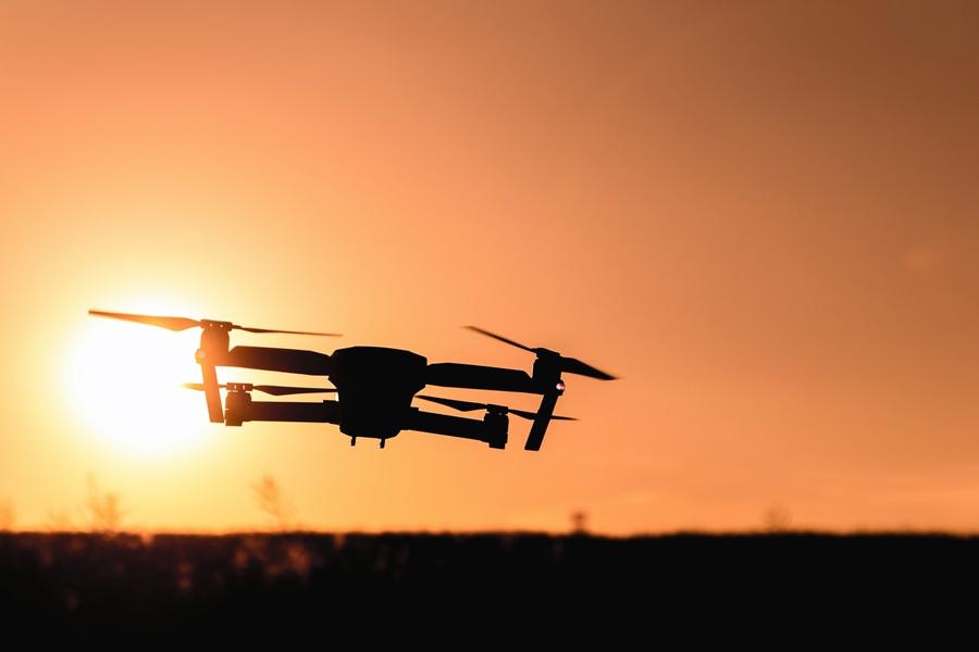 Drone utilizzato per la sicurezza sul lavoro