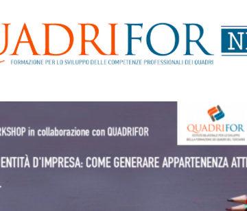 Forum Risorse Umane 2017: workshop Quadrifor sullo storytelling il 16 novembre a Milano